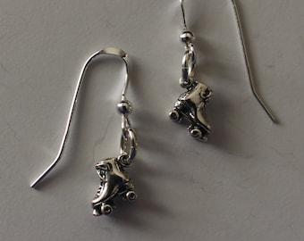 Sterling Silver 3D ROLLER SKATES Earrings - Hobby, Sports