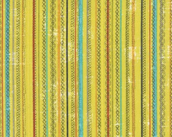 MODA Garden Project Stripes Yellow, 39554 17, Yardage, Tim & Beck