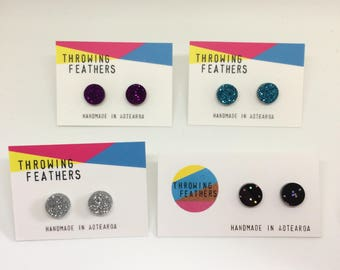 Small Dolly stud acrylic earrings - choose your colour