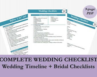 wedding checklist for bride printable