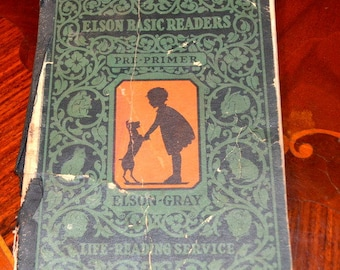 40 % OFF - 1930 Elson Gray Basic Reader Rare First Dick And Jane Book Pre-Primer