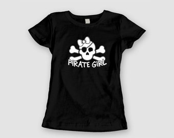 Ladies Baby Doll Tee - Pirate Girl