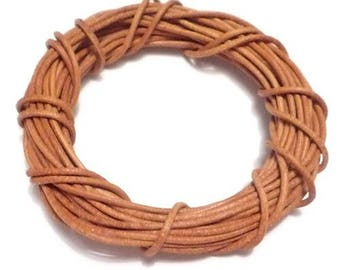 O1.5mm brown leather cord (1 M)