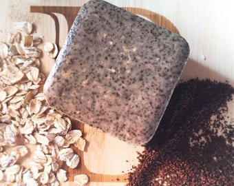 breakfast bar goats milk soap with coffee and oatmeal