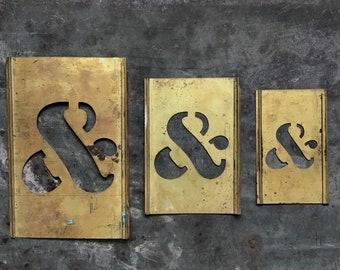 Brass Ampersand Symbol, Stencil Set