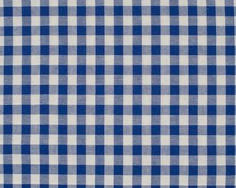 Gingham blue 5mm 100% cotton