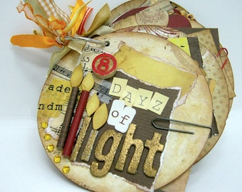 Hanukkah Mini Album - Chanukah Gift - Recycled Hanukkah Album - Holiday Mini CD Album - Happy Chanukah Album