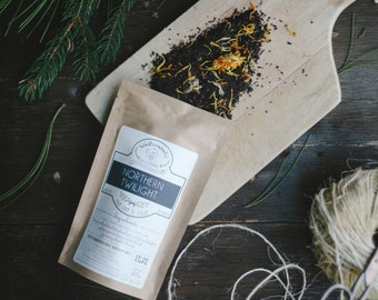 Northern Twilight Organic Handcrafted Tea | Assam Black Tea | Winterwoods Loose Leaf TEA
