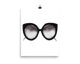 Sunglasses watercolour print