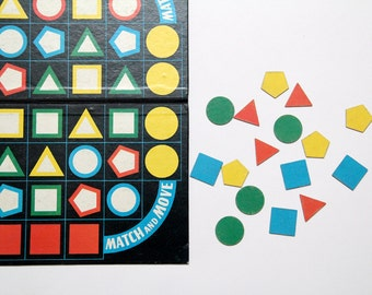 Vintage Match and Move board game in original box by Spear's Games, 1972