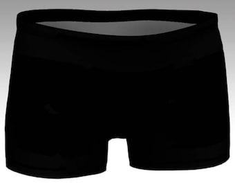 Midnight Black Yoga Shorts, Women's Yoga Shorts, Women's Shorts, Yoga Shorts, Swim Shorts, Athletic Shorts, Running Shorts, Pair with a Top