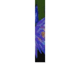 BPWA0001  Even Count Single Drop Peyote Cuff/Bracelet Pattern