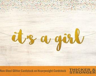 It's a Girl Banner, Script Font - Baby Shower Banner, Baby Shower Decor, Baby Girl Banner, Baby Shower, Baby Girl