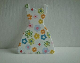 Cutout dress low-cut paper design flowers for creation