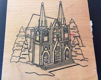 Department 56 5962-5 Christmas in the City Series 1994 Rubber Stamp Heaven Church
