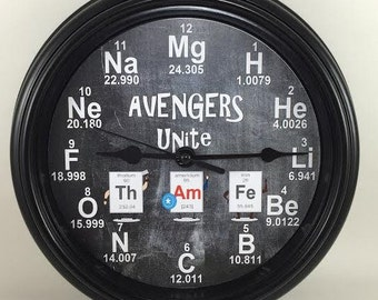 AVENGERS UNITE, Captain America, Thor, Iron Man, Avengers, CHEMISTRY, Wall Clock