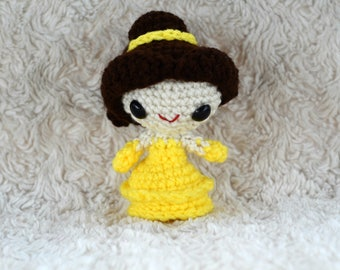 Belle (Beauty and the Beast) Amigurumi Crochet Doll