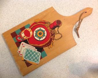 Cheese Cutting Board / Man Cave Decor / Poker Night Decor / Kitchen Decor