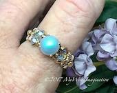 Swarovski Pearl Ring, Iri...