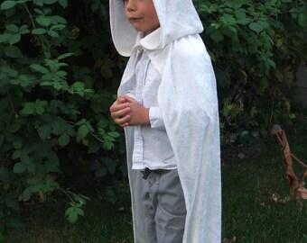 White Crushed Velvet Childrens Cloak