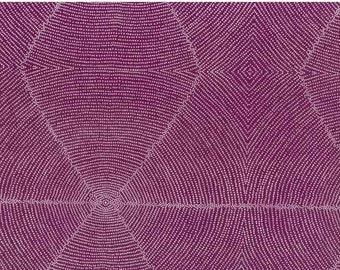 Plum Seeds Mauve Australian Aboriginal Fabric