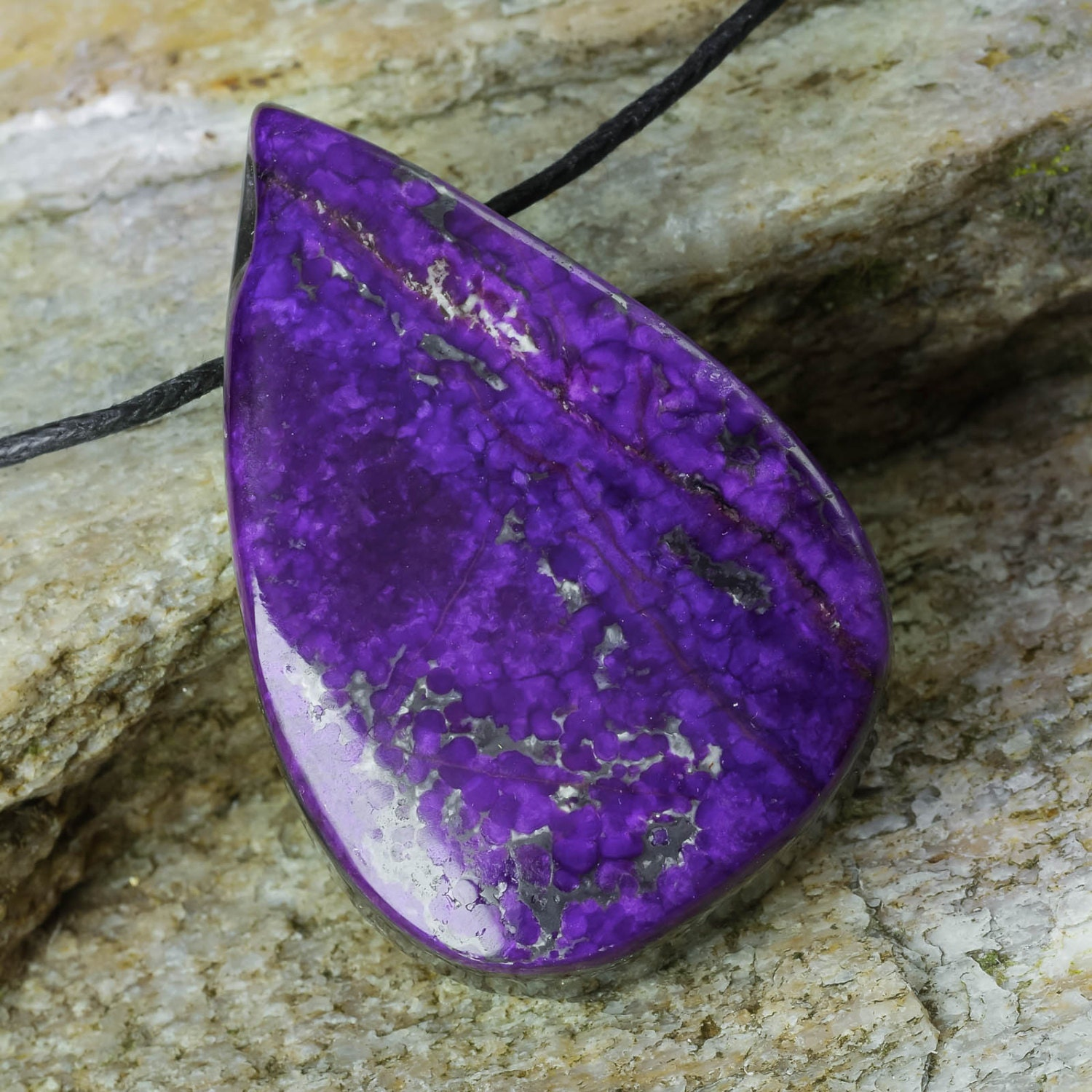necklace charm purple south in for jewelry drop waterdrop natural making african bead suspension sugilite gems from pendant pendants water stone fashion genuine item