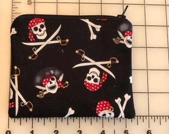 Zippered pouch - Pirate skull and crossbones