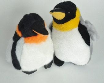 2 Vintage 1980s PENGUIN Stuffed Animal Kids Plush Toy - Childrens Birthday Present, Baby Shower Gift, Nursery Decor, Penguin Lover GIFT