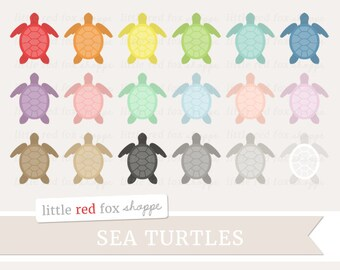 Sea Turtle Clipart, Turtle Clip Art Ocean Animal Shell Nautical Beach Sea Life Label Marine Cute Digital Graphic Design Small Commercial Use