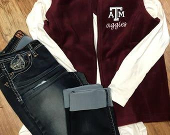 Texas A&M Aggies Monogram Fleece Vest