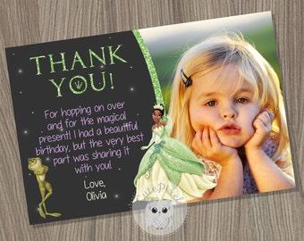 Tiana Thank You Card, Princess and The Frog Thank You Card, Tiana Birthday, Disney Princess Thank You Card, Princess and the Frog Card