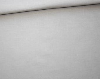 Grey plain fabric, 100% cotton, 50 x 160 cm