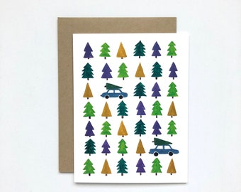 Trees - Holiday Card, Christmas Card