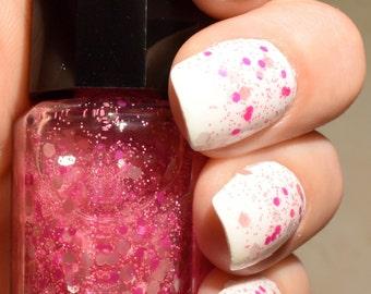 SALE!! Nail Polish - Strawberry Milkshake//Pink Nail Polish //Matte Glitter Polish