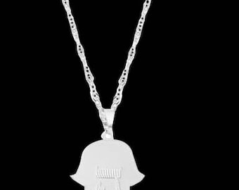 Personalized Letter Necklace - Custom Letter Necklace - Engraved Letter Necklace - Silver Letter Necklace - Personalized Hamsa Necklace