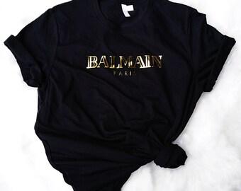 Balmain Paris Shirt Gold, Balmain, Gucci Inspired T-Shirt, paris shirt, paris gift, balmain paris, paris T-shirts, balmain shirts