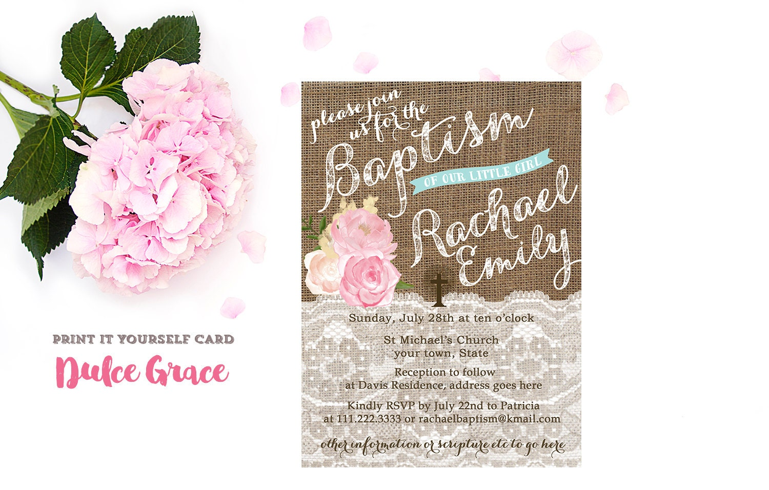 Printable christening invitations girl baptism invitation zoom kristyandbryce Images