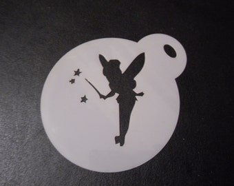 Unique bespoke new laser cut tinkerbell wand cookie/ face painting stencil