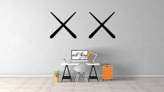 Kaws Eyes Wall Decal / Kaws Art / Home Decor / Wall Sticker / Vinyl Wall Decal by Etsy