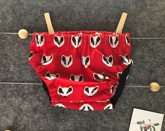 3 - 6 months (000 - 00) Baby Bloomers / Nappy Cover / Diaper Cover | Baby Shower Gift | Handmade | Red Badgers