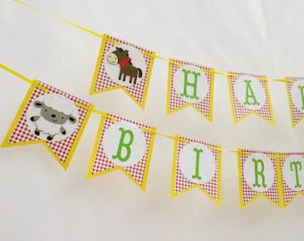 Farm Birthday Party Decorations Garland - Farm Animals Banner- Farm theme Baby Shower - Farm 1st Birthday Party Decorations - Little Farmer