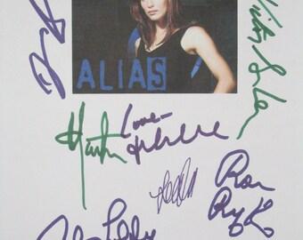 Alias Signed TV Finale Script Screenplay X9 Autographs Jennifer Garner Michael Vartan David Anders Kevin Weisman Carl Lumbly Victor Garber