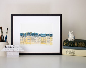 On the Rooftops - unframed print
