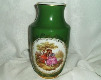 Vintage Limoges La Reine Fragonard Vase