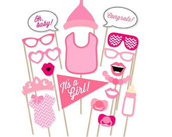 Its A Girl Baby Shower Printable Photo Booth Props Baby