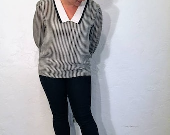 Vintage 1980s Collared Blouse