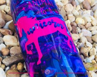 Custom Tumbler with Swirled Inks