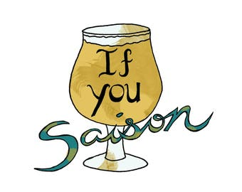 Craft Beer - Temporary Tattoo - Beer Fan - If You Saison - Foodietoo