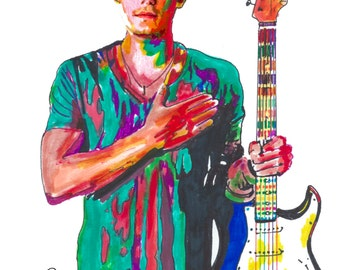 """John Mayer, Guitar Player, Guitarist, Blues Rock , Acoustic, Folk, POSTER from Original Drawing 18"""" x 24"""" Signed/Dated by Artist w/COA 3"""