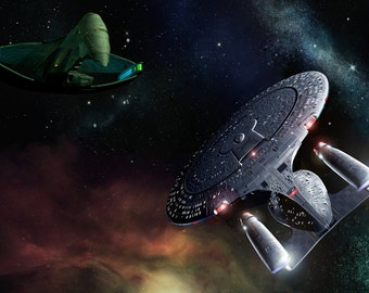 Star Trek Digital Art  Glossy Print  'Romulan Rendezvous'